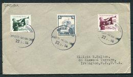 1936 Germany Deutsche Seepost Hamburg - Amerika Linie Ship Cover CARIBIA - Deutschland