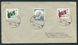 1936 Germany Deutsche Seepost Hamburg - Amerika Linie Ship Cover CARIBIA - Briefe U. Dokumente