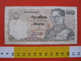 BN.01 BANCONOTA USATA VEDI FOTO - THAILANDIA  10 BHAT - Tailandia