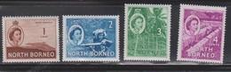 NORTH BORNEO Scott # 261-4 MH - QEII & Various Scenes - North Borneo (...-1963)