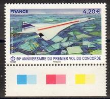 """FR 2019 / PA N° 83 """" LE CONCORDE-50ème Anniversaire 1er Vol """" / MARGE ILLUSTREE-NEUF - Poste Aérienne"""