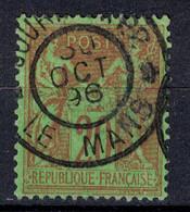 """BELLE OBLITERATION CAD """" JOURNAUX PP LE MANS """" De 1896 Sur SAGE 20c N° 96 - 1876-1898 Sage (Type II)"""