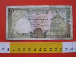 BN.01 BANCONOTA USATA VEDI FOTO - SRI LANKA 1987 / 10 TEMPIO - Sri Lanka