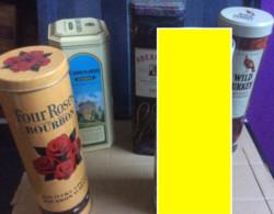 Lot De 5 Boîtes-étuis Métallique (vides) Whisky-Bourbon-Whiskey-Irish Cream (Bowmore-Aberlour-Wild Turkey-Four Roses-Car - Whisky