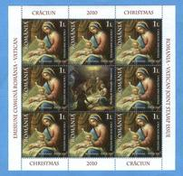 Romania - Natale 2010, Congiunta Con Vaticano.  1 - Blocchi & Foglietti