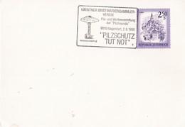 Enveloppe Autrichienne Avec Cachet Commémoratif Coulemelle - Pilze