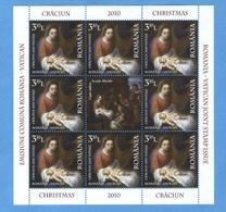 Romania - Natale 2010, Congiunta Con Vaticano.  2 - Blocchi & Foglietti