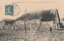 SAINT NABORD - BEAU PREMIER PLAN D'UNE CHAUMIERE CHAMPENOISE - BELLE CARTE ANIMEE - 2 SCANNS -  TOP !!! - Francia