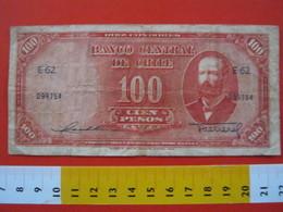 BN.01 BANCONOTA USATA VEDI FOTO - CILE 100 PESOS - Chile