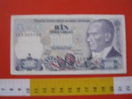 BN.01 BANCONOTA USATA VEDI FOTO - TURCHIA 1970 / 1000 LIRE ATATURK - Turchia