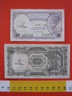 BN.01 BANCONOTA USATA VEDI FOTO - EGYPT EGITTO 2 PEZZI - Egitto