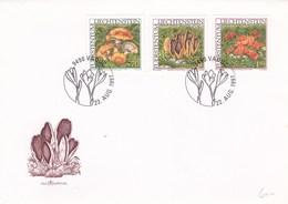 Enveloppe Luxembourgeoise 1er Jour 3 Timbres Champignon - Pilze