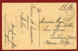 Noodstempel Brugge 14 28/12/18 Naar Onderofficier Te Gaillon (Frans Opleidingscentrum Voor Belgische Onderofficieren ) - Postmark Collection