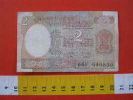 BN.01 BANCONOTA USATA VEDI FOTO - INDIA 2 RUPIE - India
