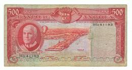 ANGOLA»500 ESCUDOS»1970 ISSUE»PICK-97»FINE CONDITION»CIRCULATED - Angola
