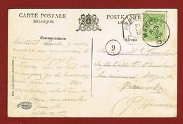 2Noodstempels Marche 26/8/19 Naar Peruwelz 27/8/19 (telegraafstempel Ans Aankomststempel - Postmark Collection