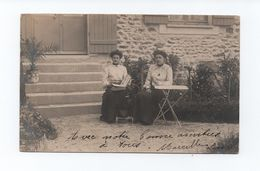 REAL PHOTO POSTCARD 1910years FRANCE GLAMOUR GIRLS Posing Album Postcards Photos - Europe