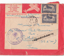 ENVELOPPE De 1924 LIGNES AERIENNES LATECOERE  - MILITARIA - Cachet 32ème Section D'infirm Milit - TIMBRES Et Oblit Pos - Maroc (1891-1956)