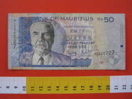 BN.01 BANCONOTA USATA VEDI FOTO - MAURITIUS 2001 / 50 RUPIE - Maurice