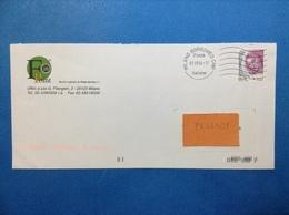 ITALIA DONNA NELL'ARTE 0,45 SU BUSTA PUBBLICITARIA FIN POINT POWER SERVICE MILANO - 2001-10: Marcophilia