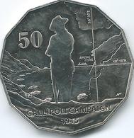 Australia - Elizabeth II - 2014 - 50 Cents - Gallipoli Campaign - Monnaie Décimale (1966-...)