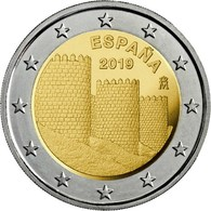 "ESPAÑA  /  SPAIN  2€  2.019  2019  ""LAS MURALLAS DE ÁVILA""  SC/UNC   T-DL-12.273 - España"