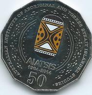 Australia - Elizabeth II - 2014 - 50 Cents - AIATSIS - Colourised - KM2159a - Moneta Decimale (1966-...)