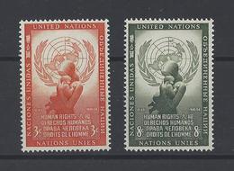 NATIONS UNIES New-York. YT   N° 29/30  Neuf **  1954 - New York -  VN Hauptquartier