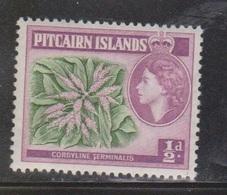 PITCAIRN ISLANDS Scott # 20 MH - QEII & Flower - Pitcairn Islands