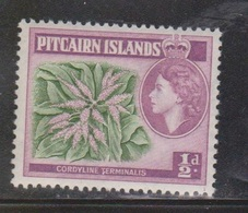 PITCAIRN ISLANDS Scott # 20 MH - QEII & Flower - Stamps