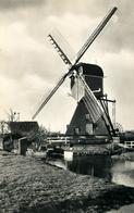 Woubrugge,Vlietmolen, Poldermolen, Windmill, Real Photo, - Watermolens