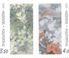 2011. Tajikistan, Apricot Blossum, 2v Perforated, Mint/** - Tadzjikistan