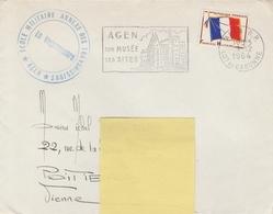 FM ECOLE MILITAIRE ANNEXE Des TRANSMISSIONS  - AGEN 9/12/64 - Franchigia Militare (francobolli)