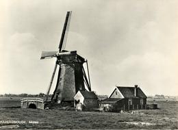 Hazerswoude, Alphen, Poldermolen, Windmill, Real Photo, - Watermolens