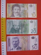BN.01 BANCONOTA USATA VEDI FOTO - SERBIA SRBIJE 10 + 20 + 50 - Serbie