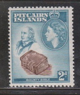 PITCAIRN ISLANDS Scott # 22 MH - QEII & Bounty Bible - Stamps