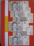 BN.01 BANCONOTA USATA VEDI FOTO - SERBIA SRBIJE 10 X 6 ESEMPLARI - Serbie