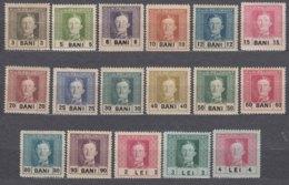 Austrohungarian Empire Romania Occupation 1918 Mi#18-34 Complete Set, Mint Hinged - Usados