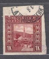 Austria Occupation Of Bosnia 1906 Pictorials Mi#42 U Imperforated, Used - Usados