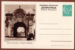 YUGOSLAVIA-SERBIA, BELGRADE-KALEMEGDAN, 5th EDITION ILLUSTRATED POSTAL CARD - Interi Postali