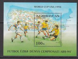 1994 Azerbaijan World Cup Football USA  Souvenir Sheet   MNH - World Cup