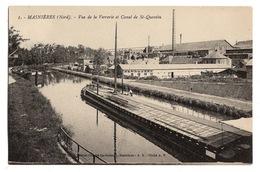 59 NORD - MASNIERES Vue De La Verrerie Et Canal De St-Quentin (voir Descriptif) - France