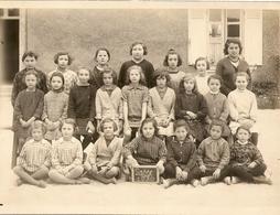 Photo Lasse 1930 Groupe Ecolieres Format 14x18 Portraitisteclacoste A Varennes Sur Loire - France