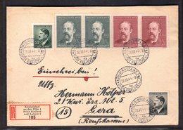 B&M., R-Fernbrief Mit MiF. Mi.-Nr. 138, 139 Ua., Mit Ak-St. - Occupation 1938-45