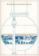 DDR-Gedenkblatt, 20 Jahre DDR / Fernsehturm - Lettres