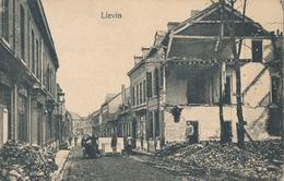 62) LIEVIN : Carte Allemande - Destructions (1.WK -  WW1) - Lievin