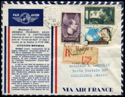 HOMMAGE A MERMOZ - Env. Spéciale MERMOZ Avec Affrt. TP Mermoz Obl De PARIS 22/4/37 Pour CASABLANCA - TB - 1927-1959 Covers & Documents