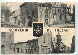 CPA 11 Aude Souvenir De Thezan Corbières - Francia