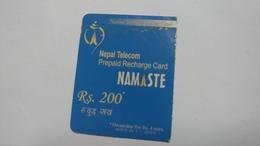Nepal-NAMASTE-(prepiad Recharge Card)-(rs.200)-(1)-(1710198948655)-(31.12.2011)-used Card - Nepal