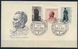 (166) 1952 Jugoslavia, 60° Compleanno Maresciallo Tito, FDC Non Viaggiata - FDC